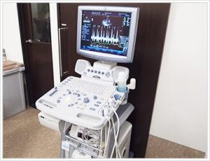 超音波検査の器具。人間さながらですね~!