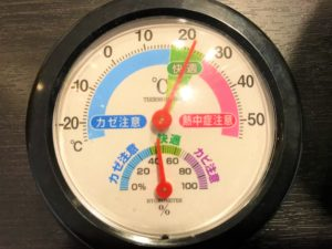100均で買った温度計。